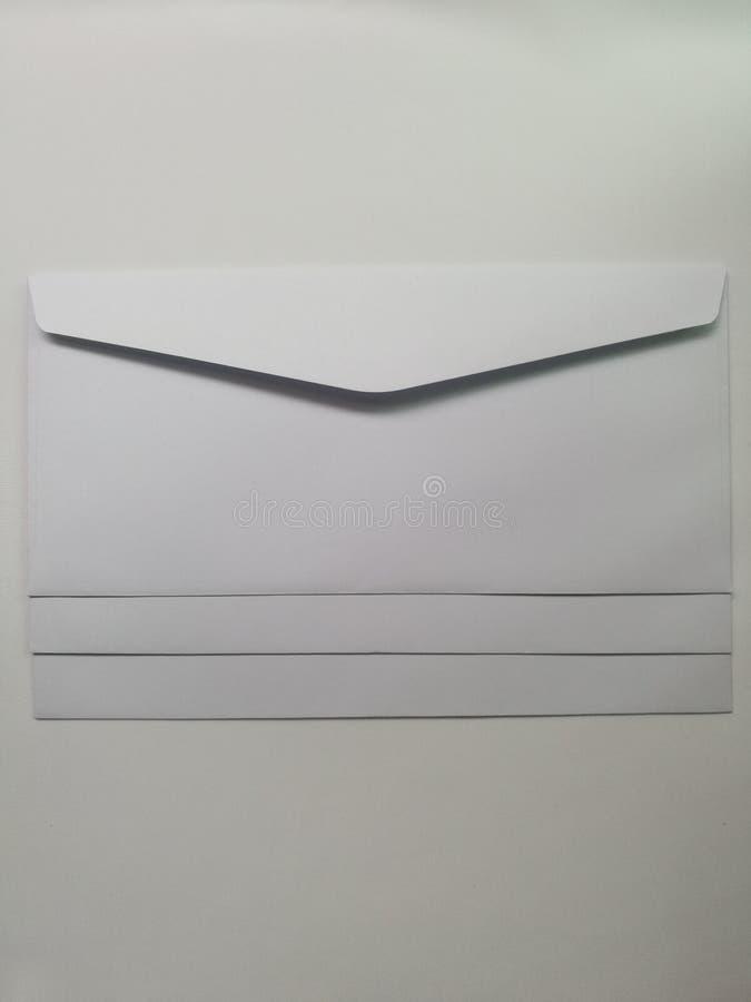 Φάκελοι που απομονώνονται άσπροι στοκ φωτογραφίες με δικαίωμα ελεύθερης χρήσης
