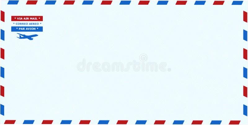 Φάκελος αεροπορικής αποστολής, στάσιμος, που απομονώνεται, ταχυδρομείο στοκ εικόνες