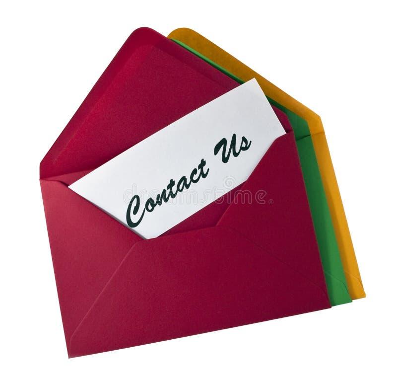 φάκελος επαφών καρτών εμ&epsilon στοκ εικόνα