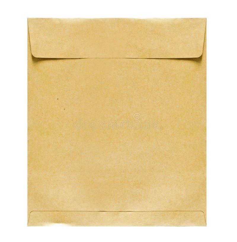 Φάκελος καφετιού εγγράφου που απομονώνεται στοκ εικόνες