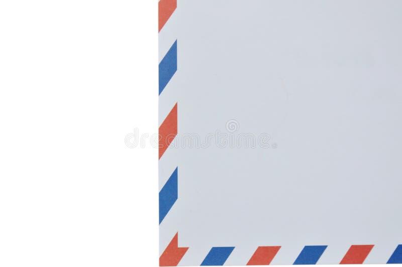 Φάκελος με κόκκινος και μπλε στα σύνορα στο άσπρο υπόβαθρο διανυσματική απεικόνιση