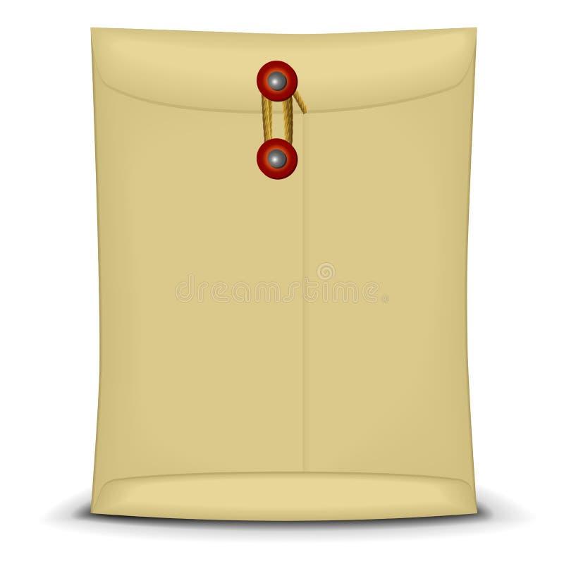 Φάκελος με τη συμβολοσειρά διανυσματική απεικόνιση