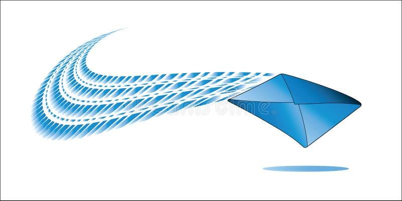 Φάκελος με το swoosh απεικόνιση αποθεμάτων