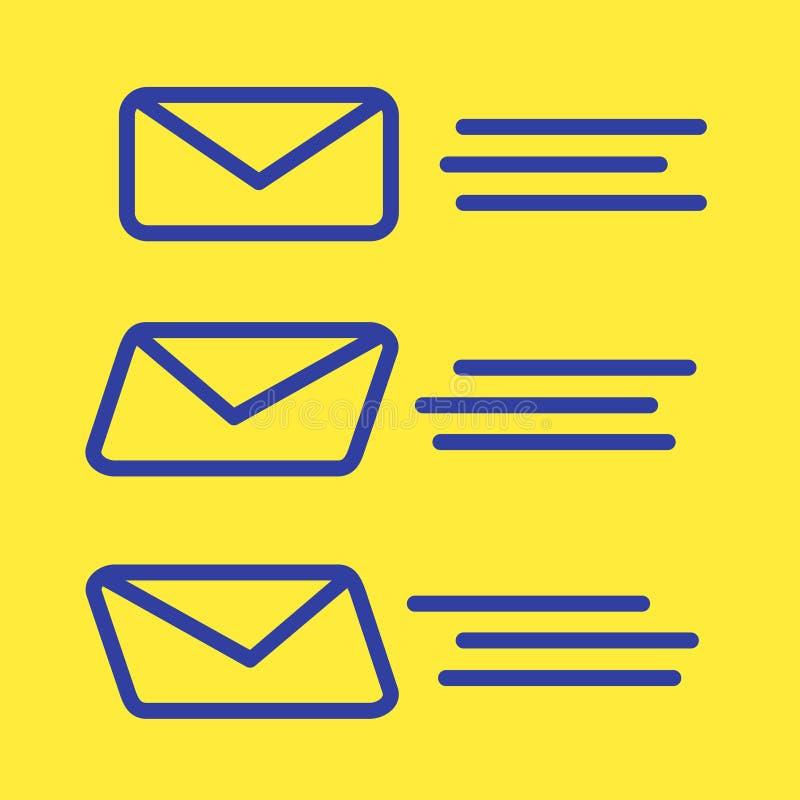 φάκελος παράδοσης ταχυδρομείου τρία που πετά στο δέκτη διανυσματική απεικόνιση