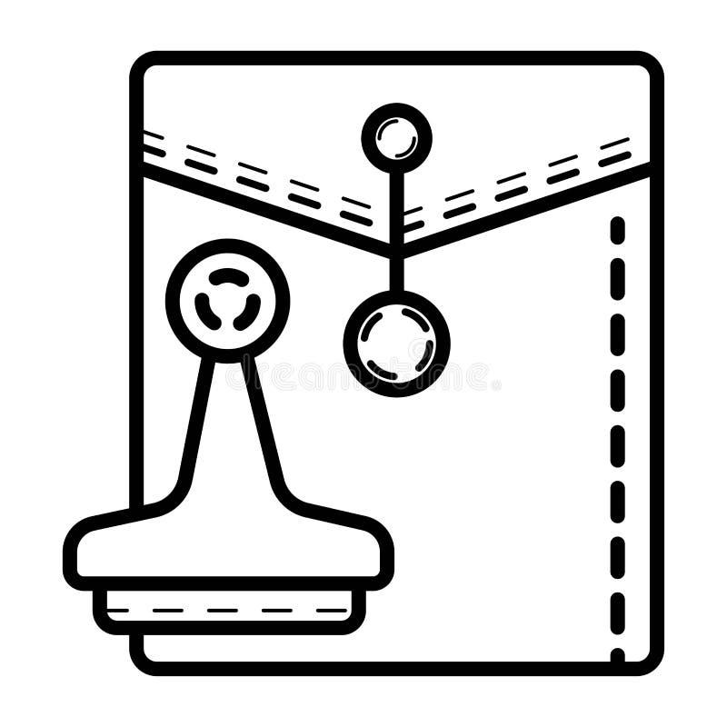 Φάκελος ταχυδρομείου με ένα εικονίδιο γραμματοσήμων διανυσματική απεικόνιση