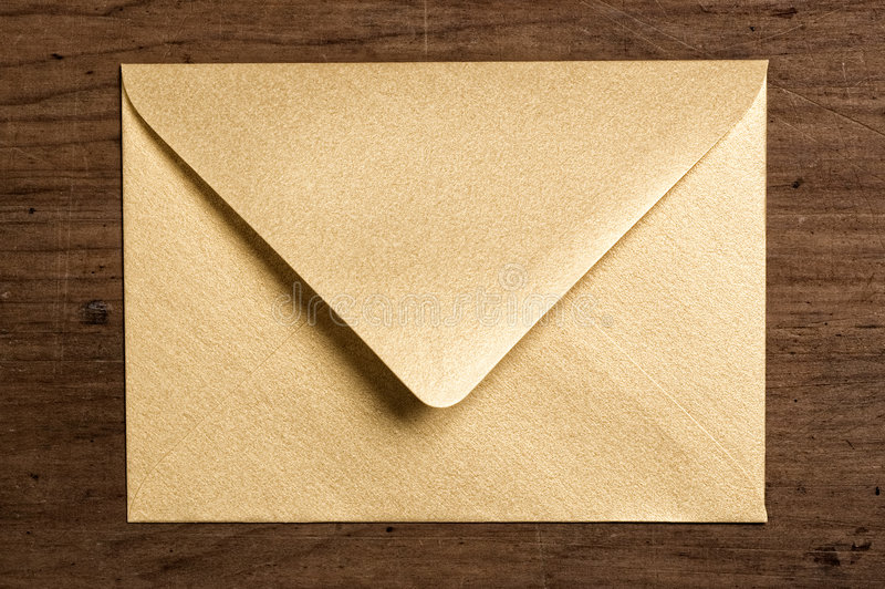 φάκελος χρυσός στοκ εικόνα