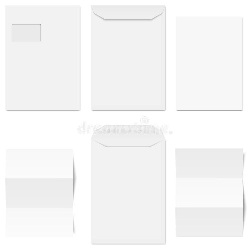 φάκελοι και χαρτικά συλλογής απεικόνιση αποθεμάτων