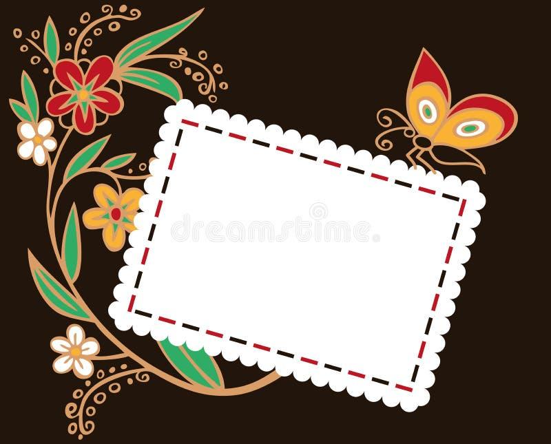 Φάκελος για τις διακοπές με τα λουλούδια διανυσματική απεικόνιση