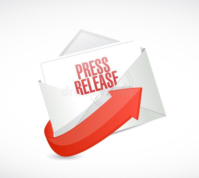 φάκελος ηλεκτρονικού ταχυδρομείου δελτίου τύπου διανυσματική απεικόνιση