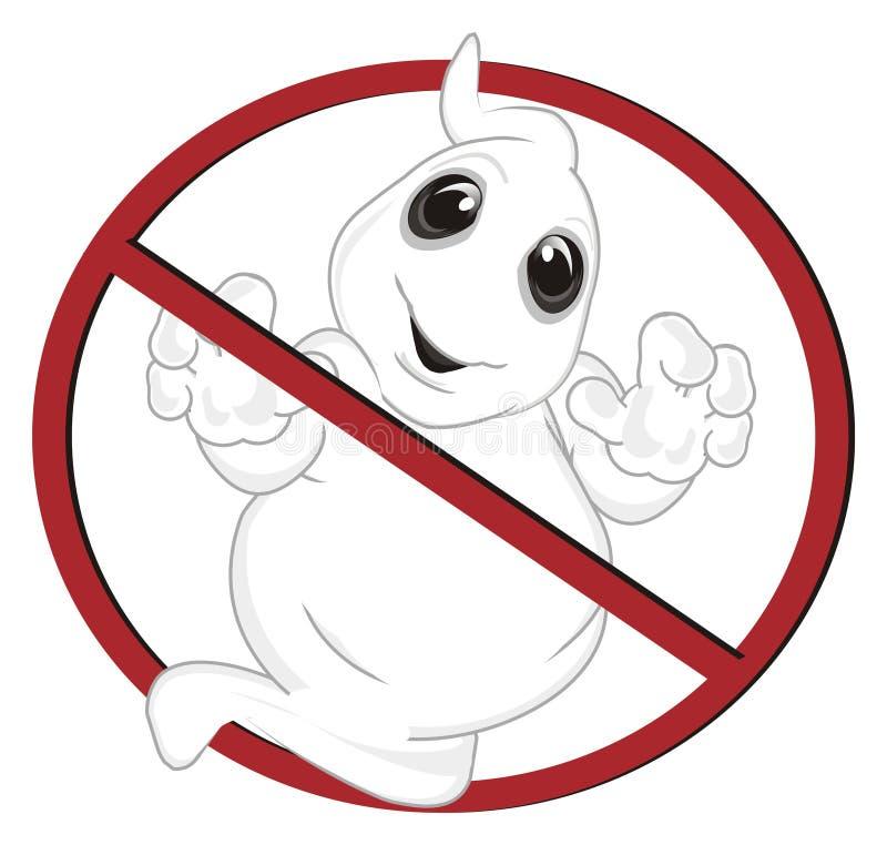 Φάντασμα στην απαγόρευση ελεύθερη απεικόνιση δικαιώματος