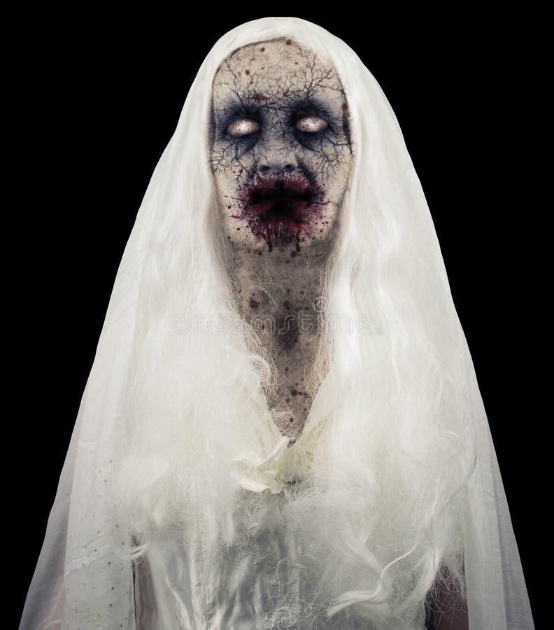 Φάντασμα Zombie που απομονώνεται στοκ εικόνα