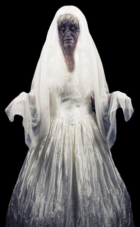 Φάντασμα Zombie που απομονώνεται στοκ εικόνες