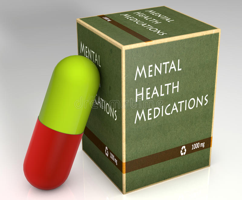 Φάρμακα πνευματικών υγειών ελεύθερη απεικόνιση δικαιώματος