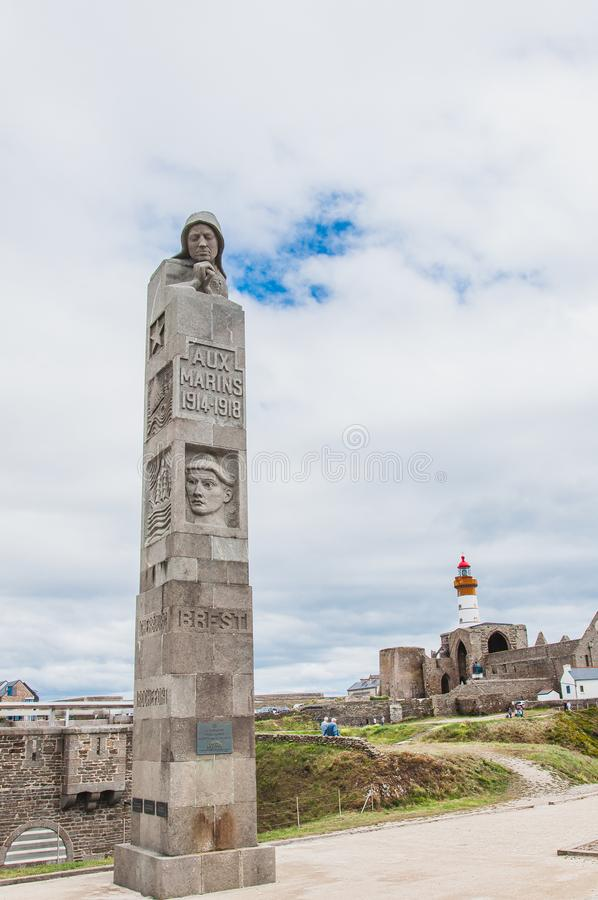 Φάρος Άγιος-Mathieu και πρώην αβαείο σε Pointe Άγιος-Mathieu στοκ φωτογραφία με δικαίωμα ελεύθερης χρήσης