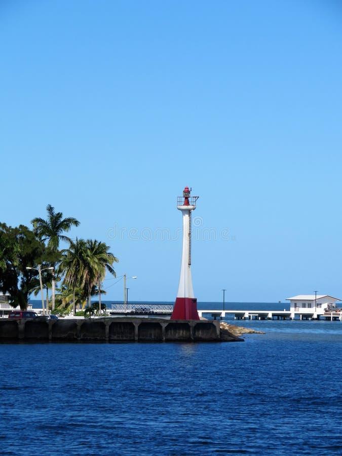 Φάρος ευδαιμονίας βαρώνων στο νησί της Μπελίζ στοκ φωτογραφία με δικαίωμα ελεύθερης χρήσης