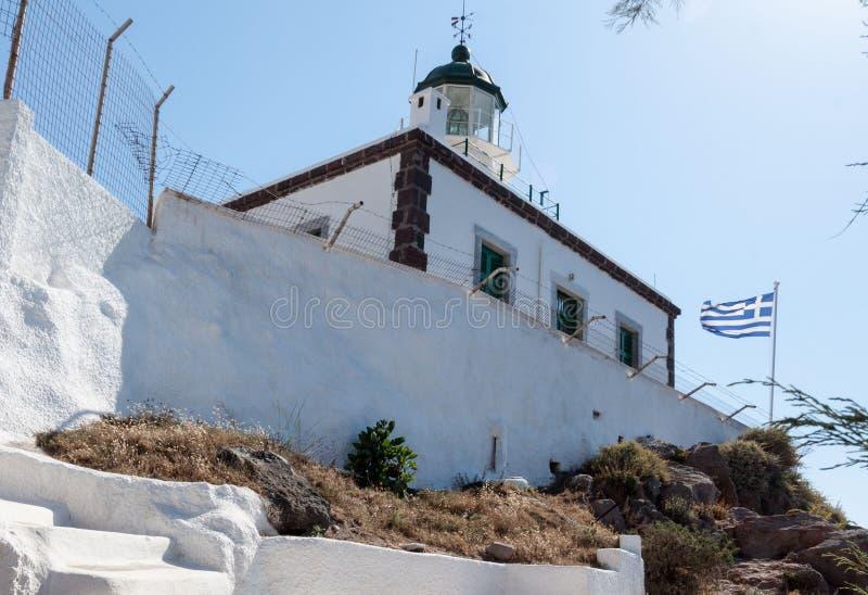 Download Φάρος Ελλάδα Santorini στοκ εικόνες. εικόνα από λόφος - 62710656