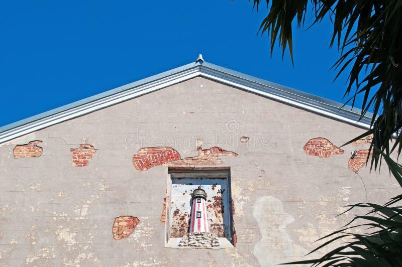 Φάρος, διακόσμηση σπιτιών, σπίτι, αρχιτεκτονική της Key West, κλειδιά, Cayo Hueso, κομητεία του Μονρόε, νησί, Φλώριδα στοκ εικόνες