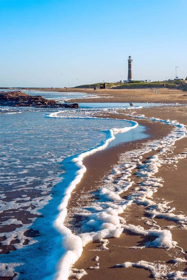 Φάρος και διάσημη παραλία στο Jose Ηγνάτιος στοκ εικόνες με δικαίωμα ελεύθερης χρήσης