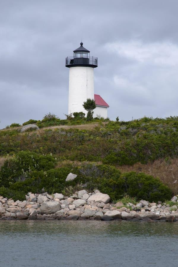 Φάρος νησιών στο θυελλώδη καιρό στοκ εικόνες με δικαίωμα ελεύθερης χρήσης
