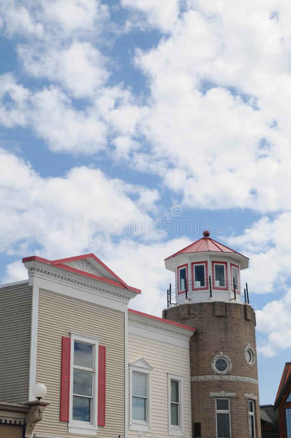 Φάρος που ορίζεται να ενσωματώσει Mackinaw Μίτσιγκαν στοκ φωτογραφία