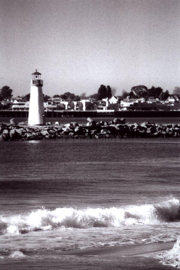 Φάρος σε Santa Cruz στοκ εικόνα με δικαίωμα ελεύθερης χρήσης