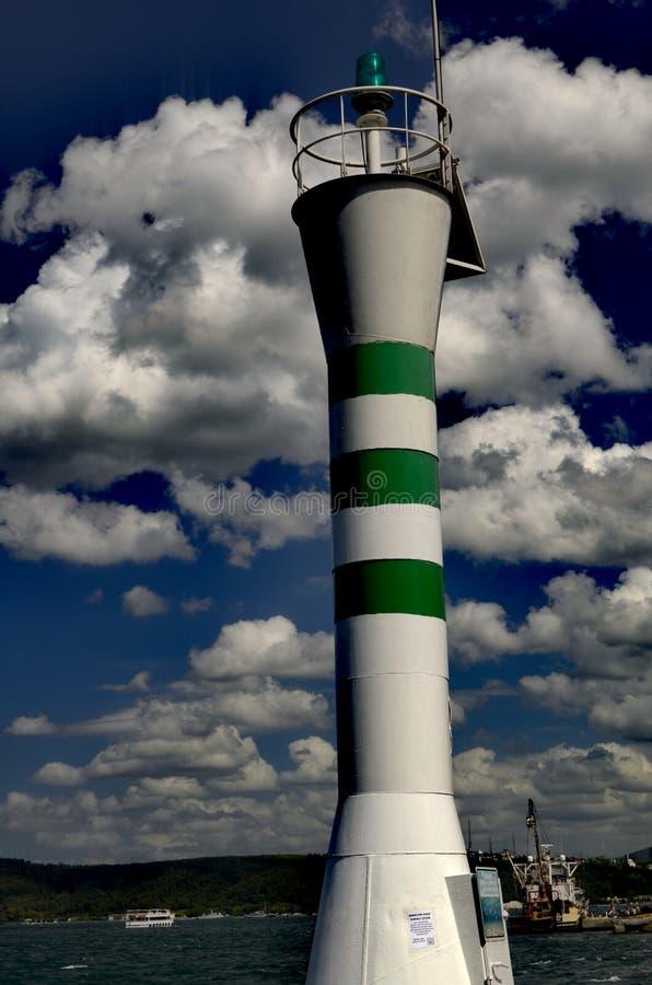 Φάρος στον ουρανό στοκ φωτογραφίες με δικαίωμα ελεύθερης χρήσης