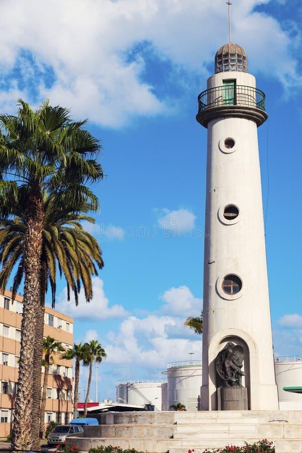 Φάρος στο βόρειο μέρος του Las Palmas στοκ εικόνες
