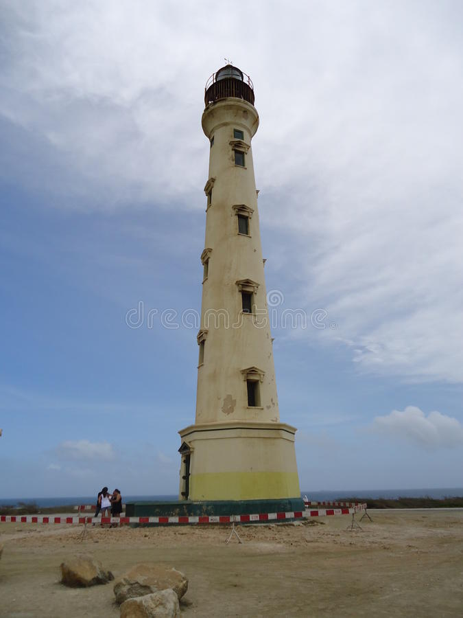 Φάρος στο βόρειο νησί της Αρούμπα στοκ φωτογραφία