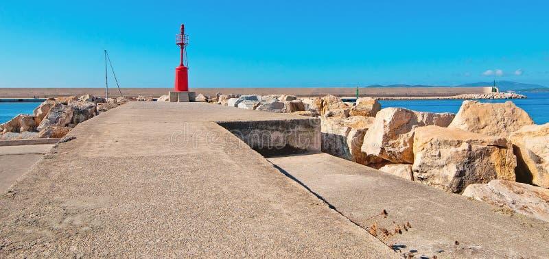Φάρος στο λιμάνι Alghero στοκ φωτογραφία