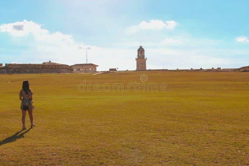 Φάρος στο οχυρό στην Αβάνα στοκ φωτογραφία με δικαίωμα ελεύθερης χρήσης
