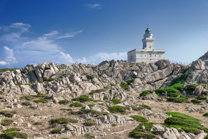 Φάρος στο Capo Testa, Σαρδηνία, Ιταλία στοκ φωτογραφίες με δικαίωμα ελεύθερης χρήσης