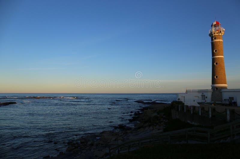 Φάρος στο Jose Ηγνάτιος κοντά Punta del Este, ατλαντική ακτή, Ουρουγουάη στοκ εικόνα με δικαίωμα ελεύθερης χρήσης
