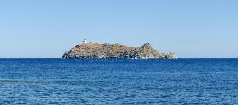 Φάρος του νησιού Giraglia στοκ φωτογραφίες με δικαίωμα ελεύθερης χρήσης