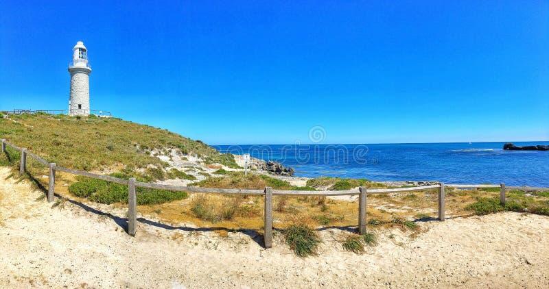 Φάρος Bathurst, νησί Rottness στοκ εικόνα