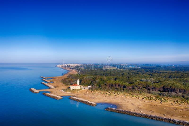 Φάρος Bibione στην αδριατική θάλασσα στοκ εικόνες