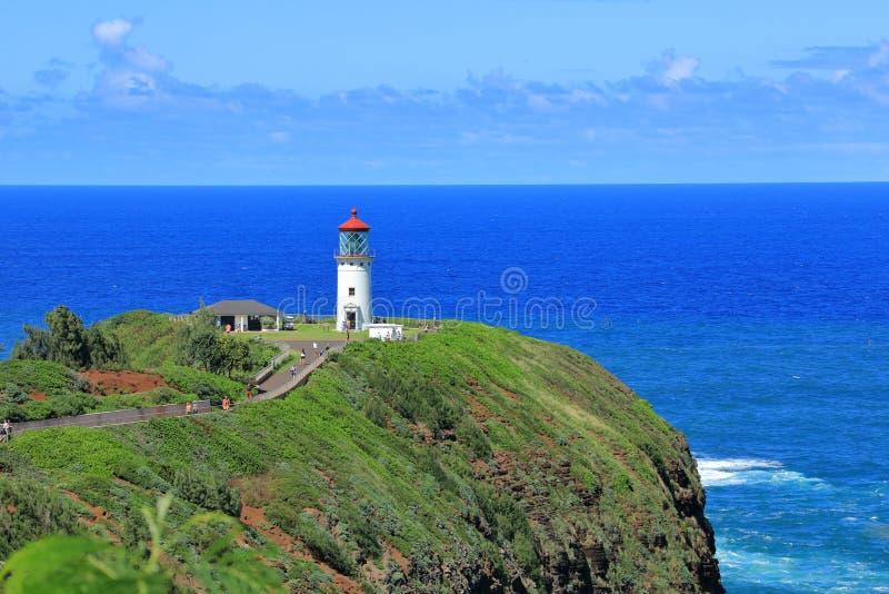 Φάρος Kilauea, Χαβάη στοκ εικόνα