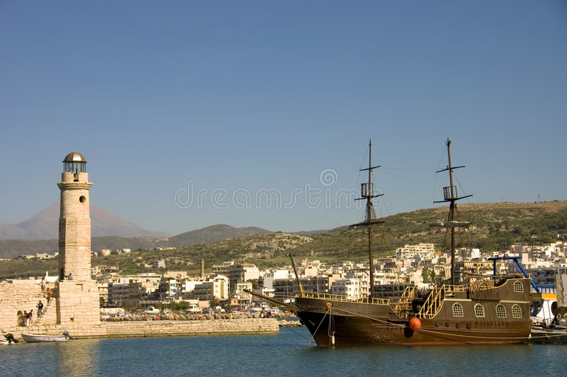 φάρος schooner στοκ φωτογραφίες με δικαίωμα ελεύθερης χρήσης