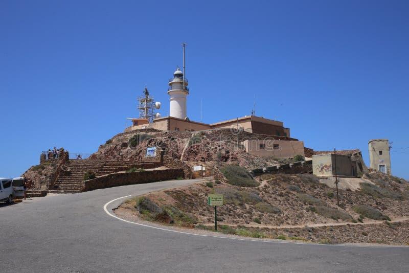 Φάρος Trafalgar στην Αλμερία, Ανδαλουσία, Ισπανία στοκ φωτογραφίες με δικαίωμα ελεύθερης χρήσης