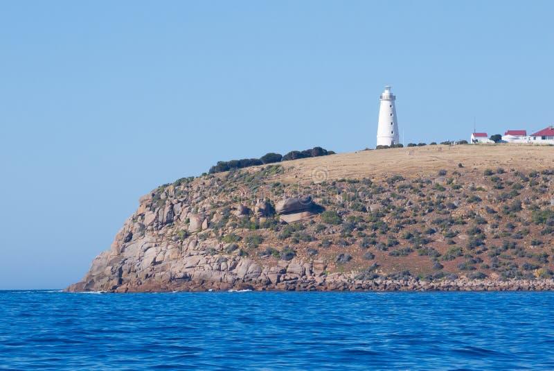 Φάρος Willoughby ακρωτηρίων στο νησί καγκουρό, Νότια Αυστραλία στοκ εικόνα