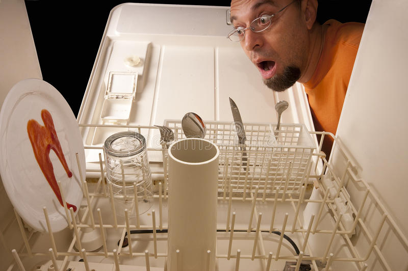 Φάρσα πλυντηρίων πιάτων στοκ εικόνα με δικαίωμα ελεύθερης χρήσης