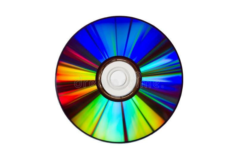 Φάσμα των χρωμάτων σε ένα DVD, που απομονώνεται πέρα από το λευκό στοκ φωτογραφίες με δικαίωμα ελεύθερης χρήσης