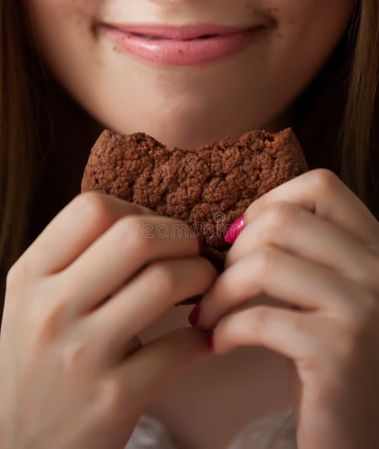 Φάτε τα μπισκότα στοκ φωτογραφίες