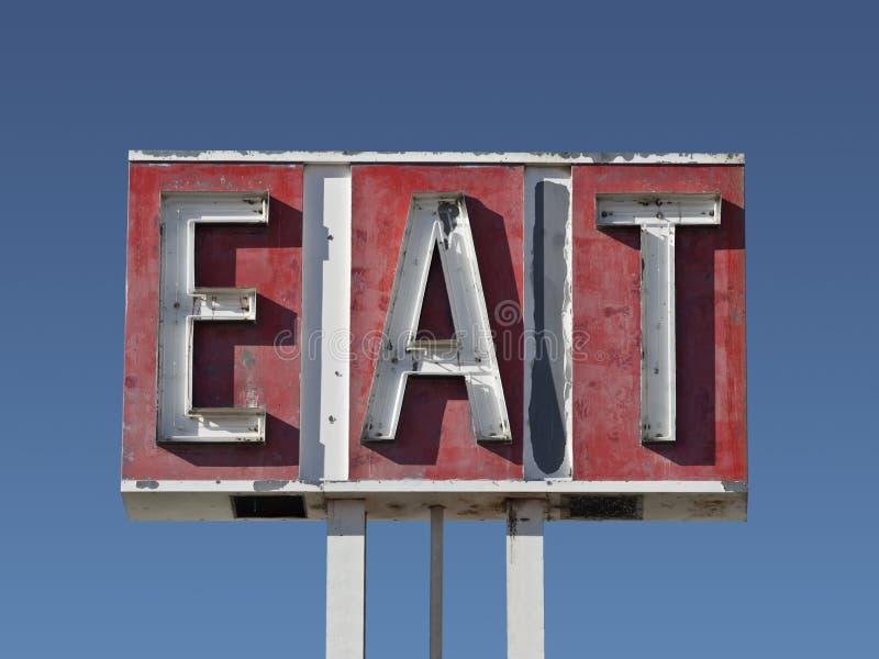φάτε το σημάδι καταστροφών στοκ εικόνες