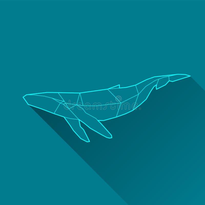 Φάλαινα wireframe απεικόνιση αποθεμάτων