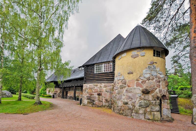 Φέουδο Hvittrask, Kirkkonummi, Φινλανδία Εστιατόριο και το Café στοκ εικόνα