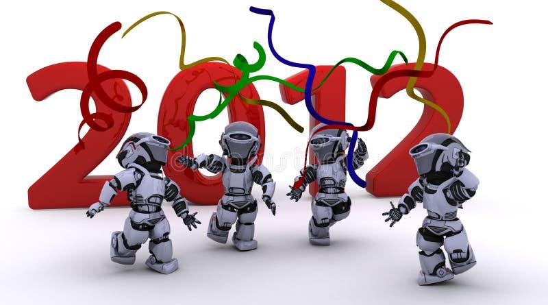 φέρνοντας νέο έτος ρομπότ ελεύθερη απεικόνιση δικαιώματος