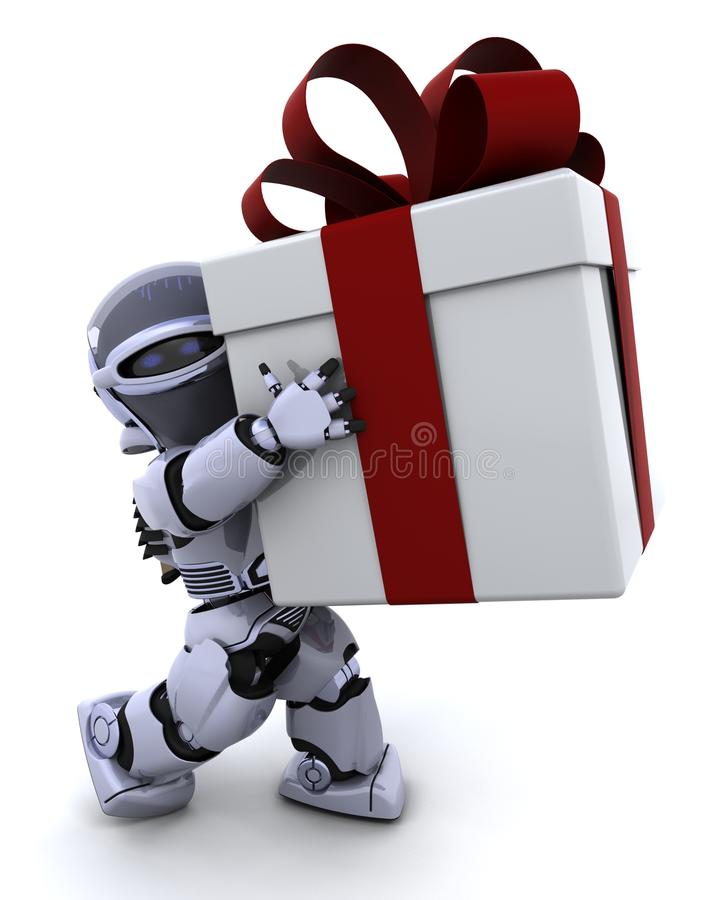 φέρνοντας ρομπότ δώρων Χρισ&tau απεικόνιση αποθεμάτων