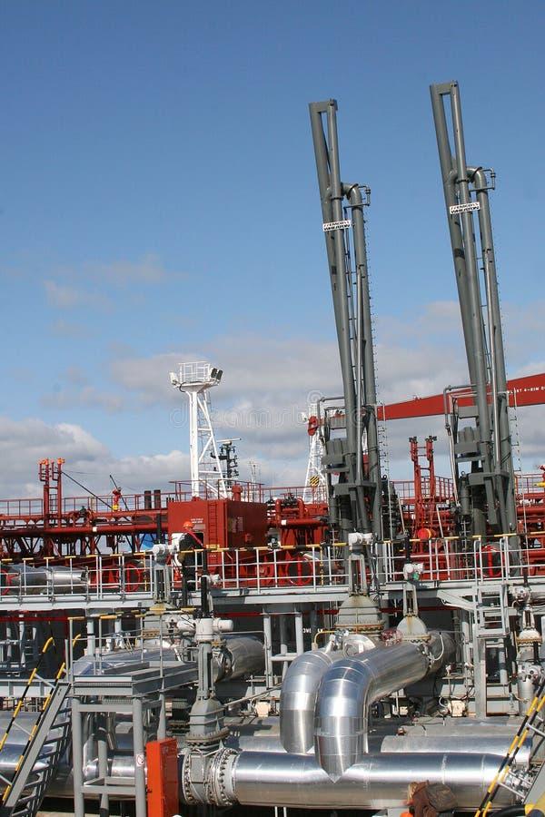 φέρνοντας τερματικός σταθμός πετρελαίου στοκ εικόνες