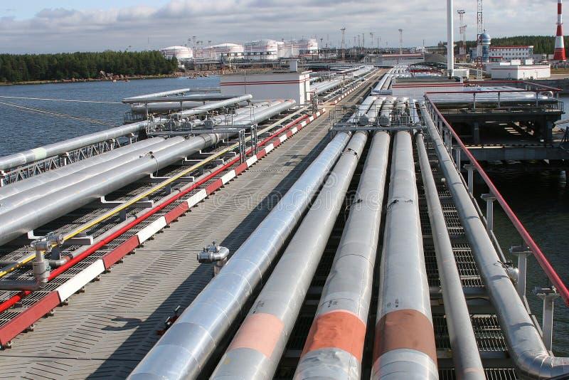 φέρνοντας τερματικός σταθμός πετρελαίου στοκ εικόνα