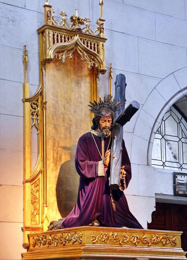 φέρνοντας Χριστός ο διαγώνιος Ιησούς στοκ φωτογραφία